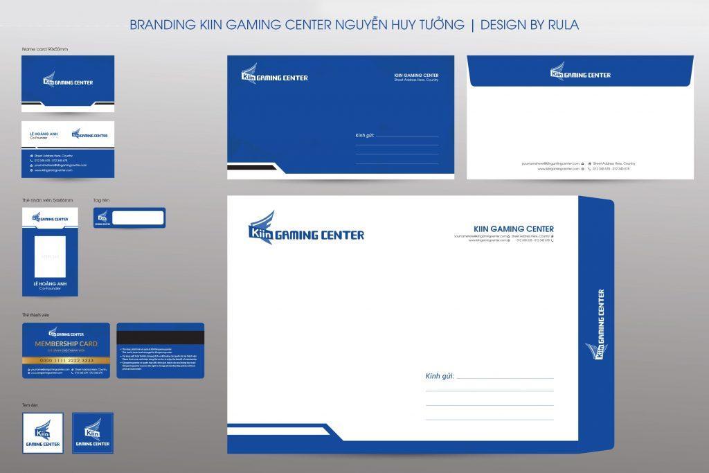 thiết kế bộ nhận diện thương hiệu Kiin gaming center