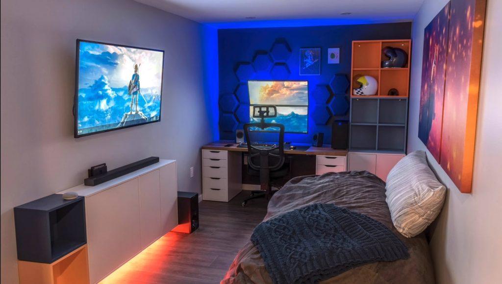 thiết kế phòng ngủ game