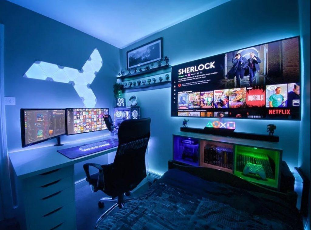 Thiết kế phòng ngủ gaming thanh lịch