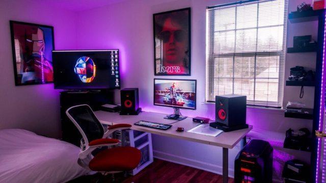 phòng ngủ gaming đơn giản