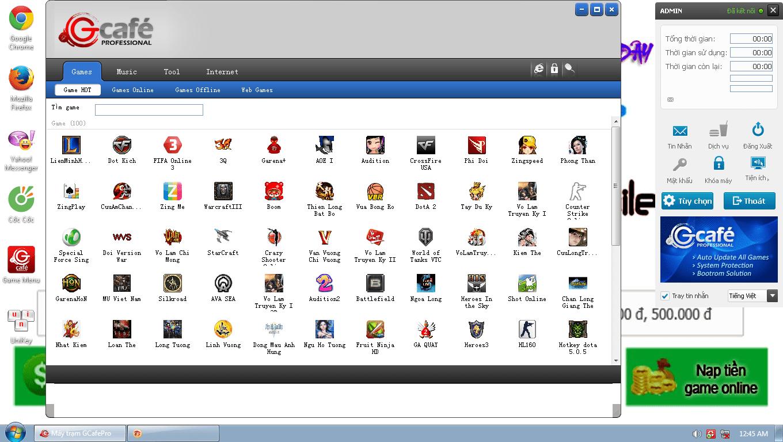 Phần mềm quản lý phòng net Gcafe Plus